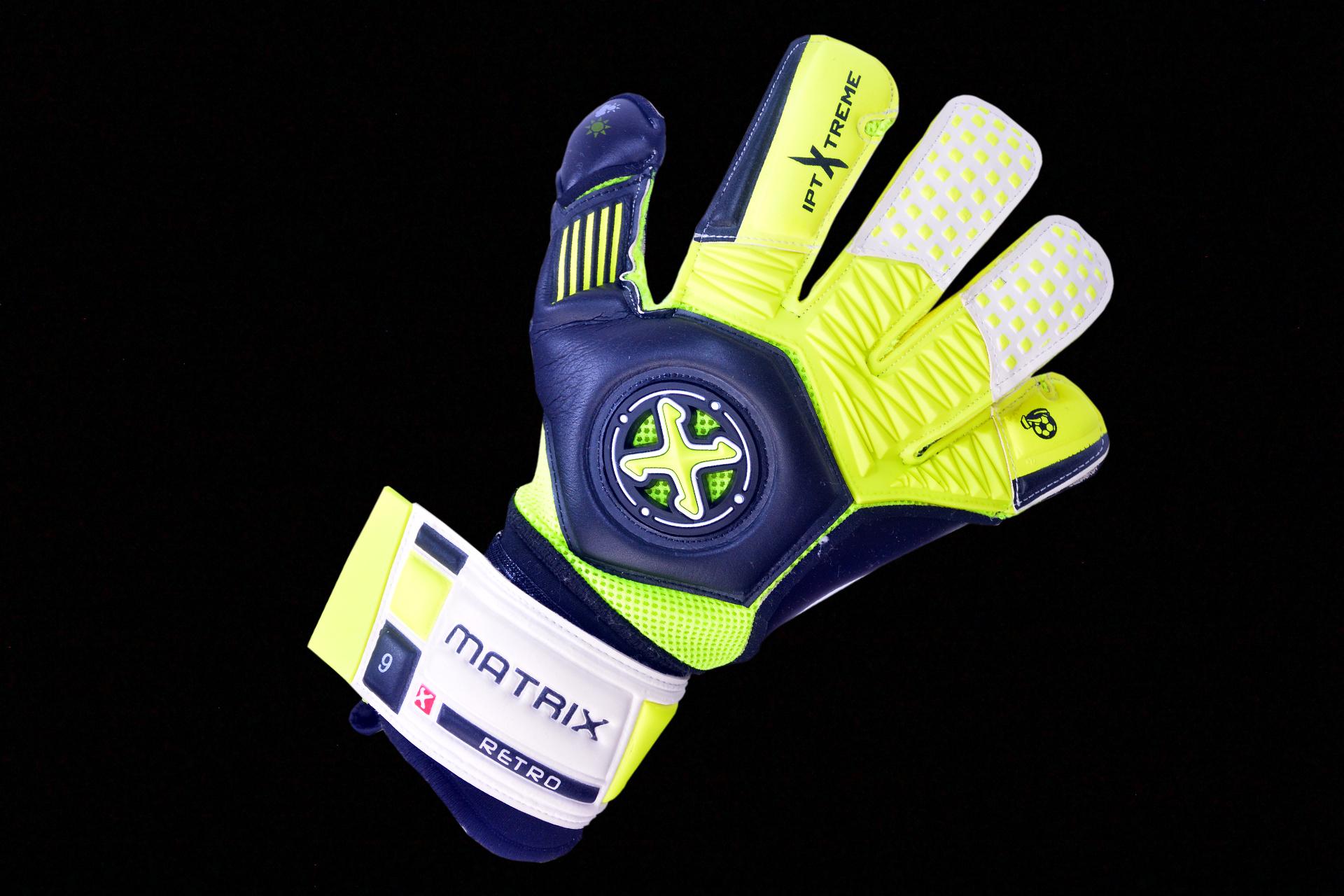 Matrix Retro Black   Yellow Goalkeeper Gloves – Matrix Sports 5046c2c6aa4a